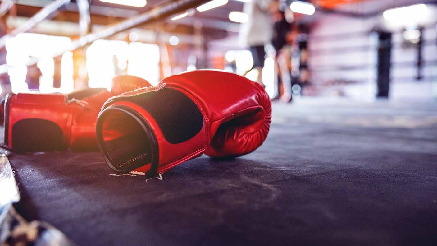 A close up of boxing gloves