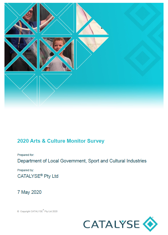 Arts and Culture Monitor 2020 Survey Report