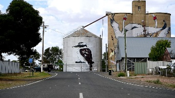 Silo Art Trail Sees Grain Storage Buildings Used As Artists' Canvasses Through Wimmera Mallee. Photo by Quinn Rooney/Getty Images.