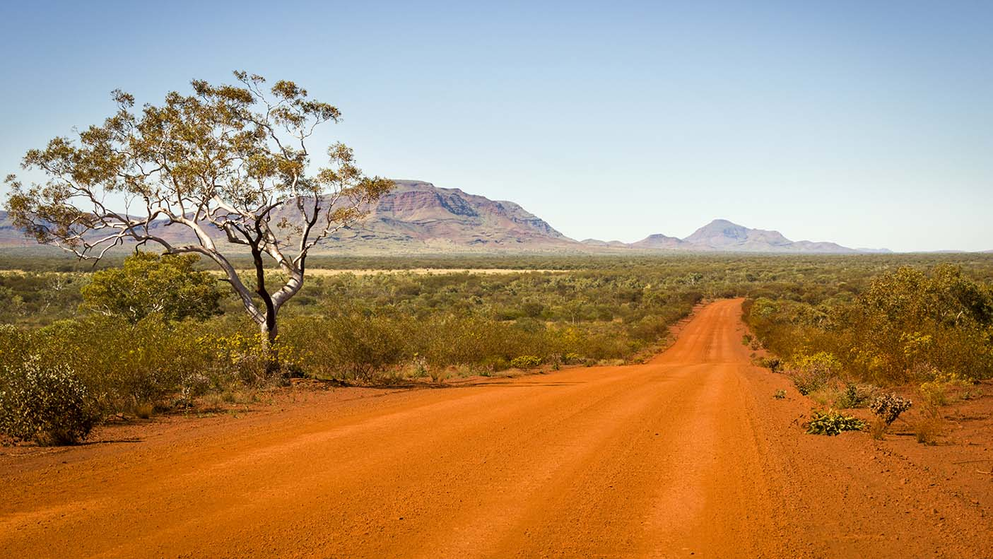 A remote road in the Pilbara