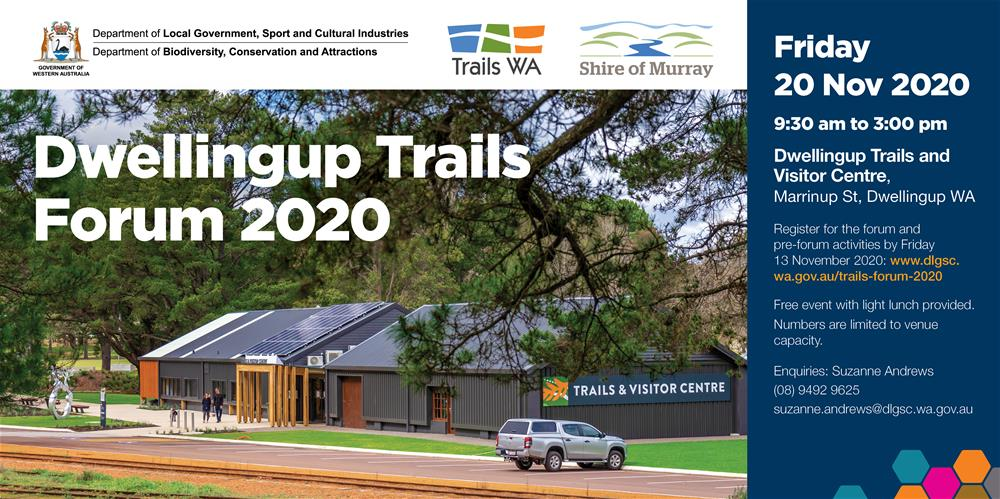 Trails Forum November 2020 registration flyer