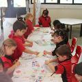 Boyare Primary School, 2016 Students partaking in an Art activity
