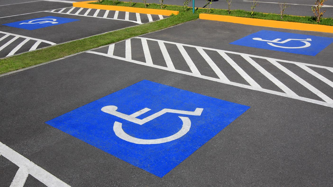 Empty ACROD parking bays
