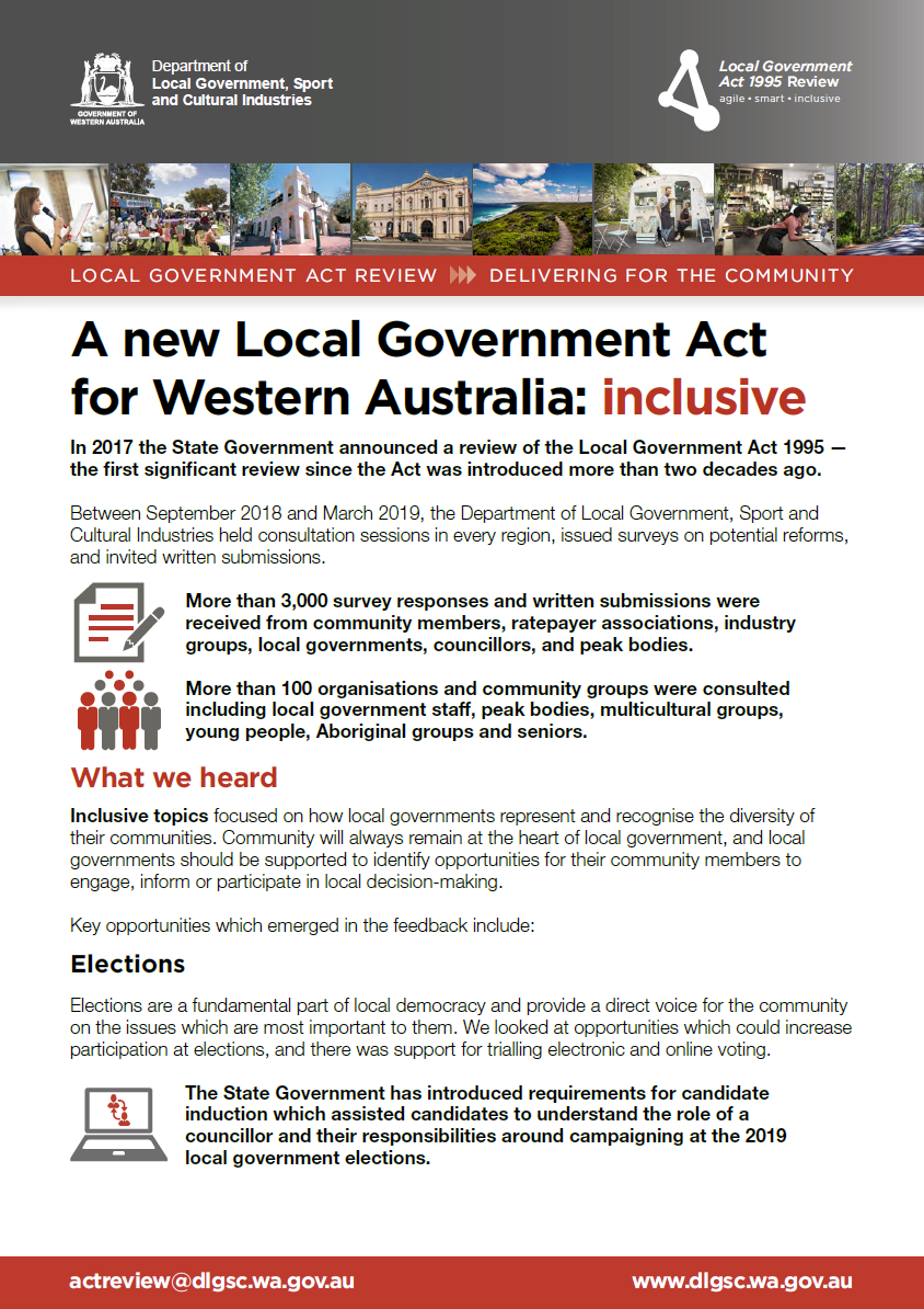 A new Local Government Act for Western Australia: inclusive