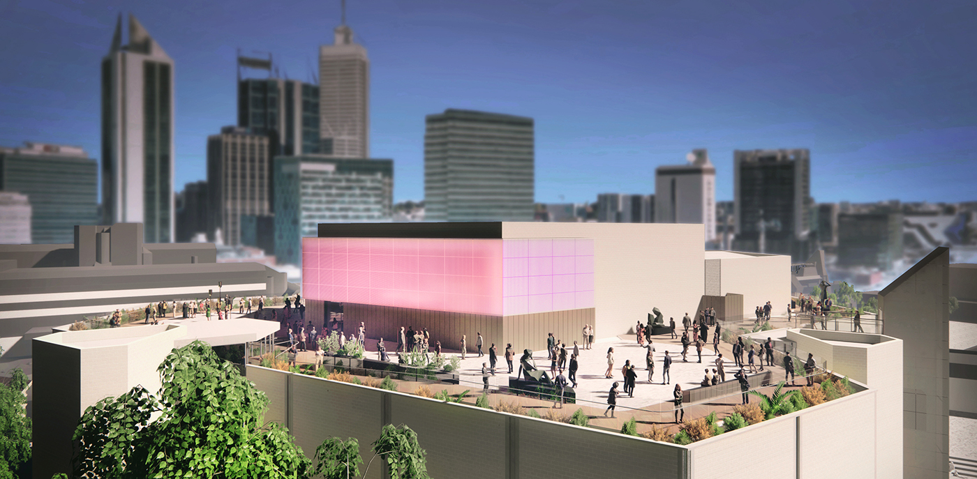 Artist's impression of the Art Gallery of Western Australia rooftop.