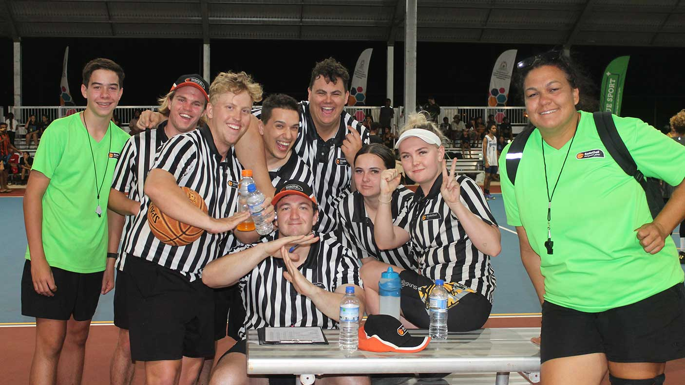 Referees at the Broome Basketball Carnival, 9,10, 11 Oct 2020