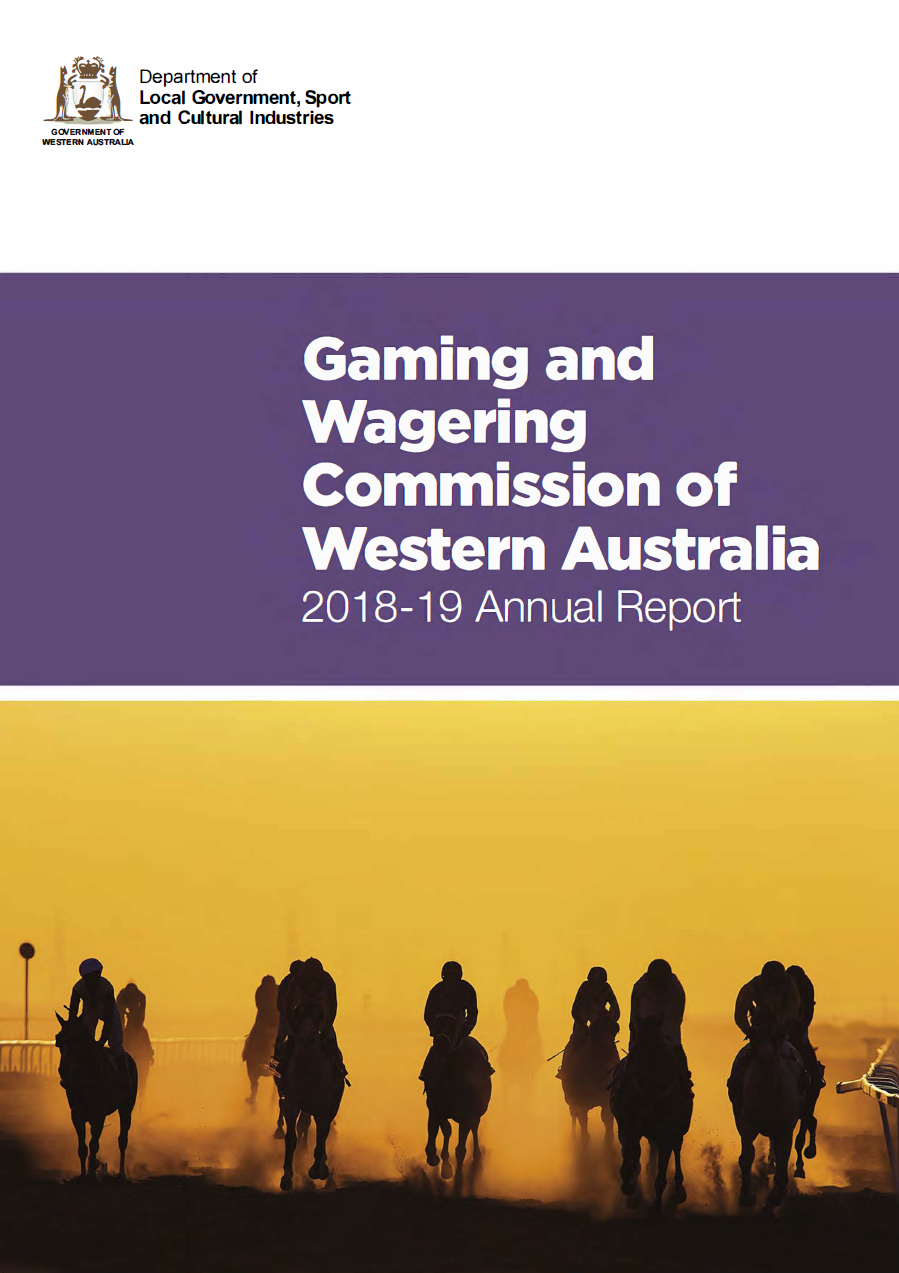 C:\Users\gwhite\DLGSC\DLGSC Website - Documents\Content\Images\Gaming and Wagering Commission of Western Australia 2018-19 Annual Report cover