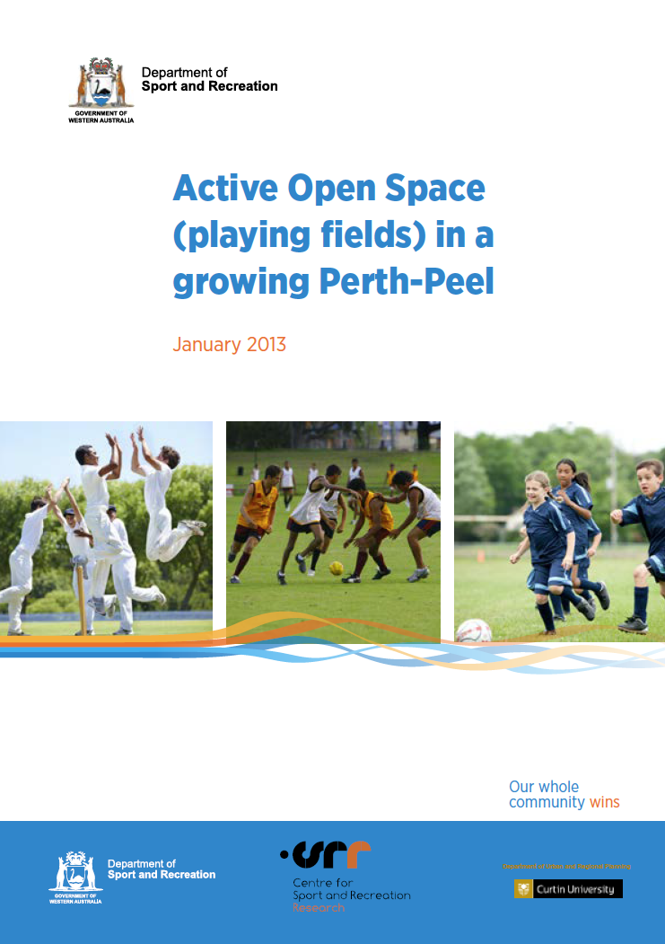 Active Open Space (Playing Fields) in a Growing Perth Peel cover
