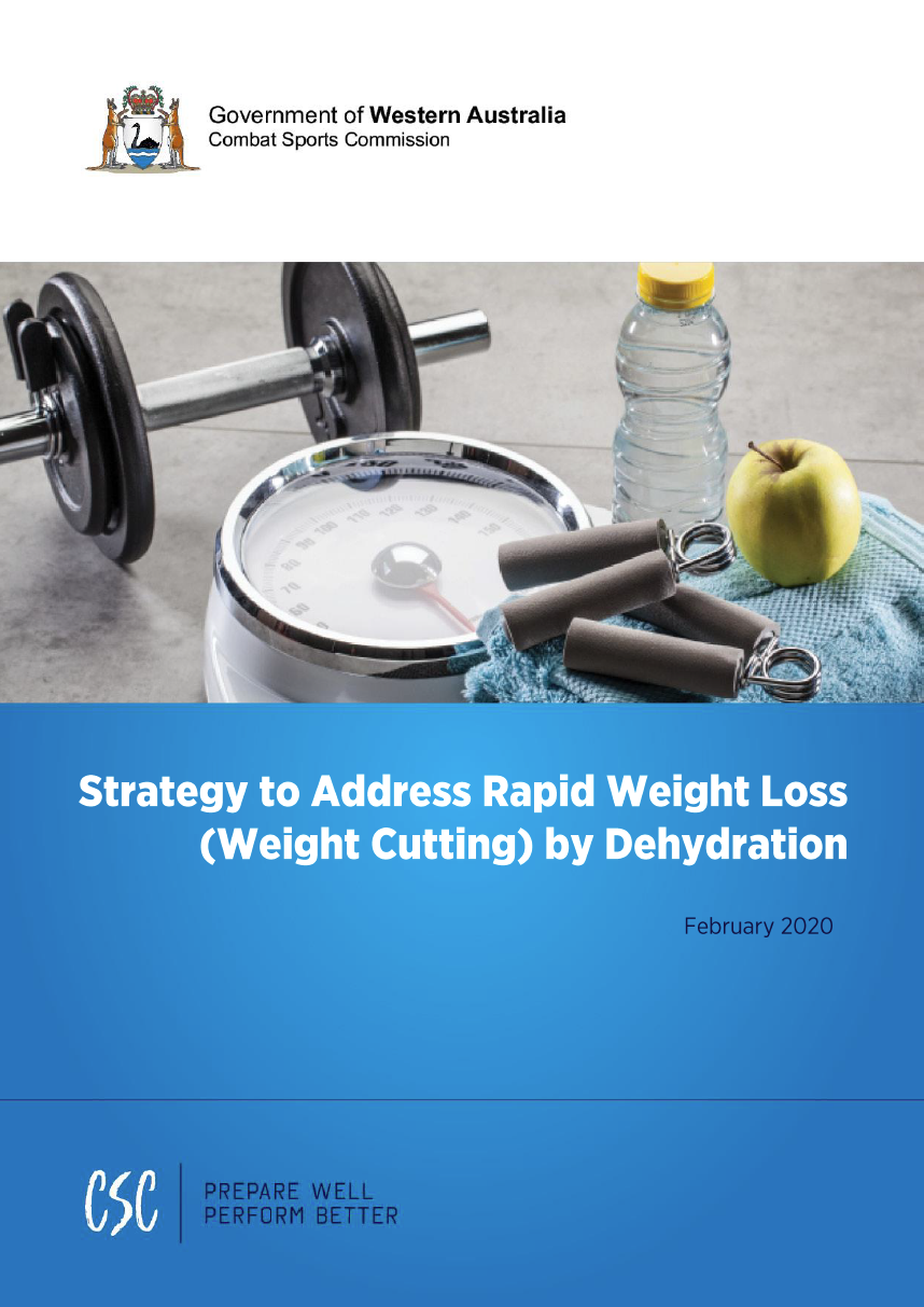 Strategy to Address Rapid Weight Loss (Weight Cutting) by Dehydration cover