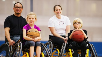 Wheelchair basketball participants