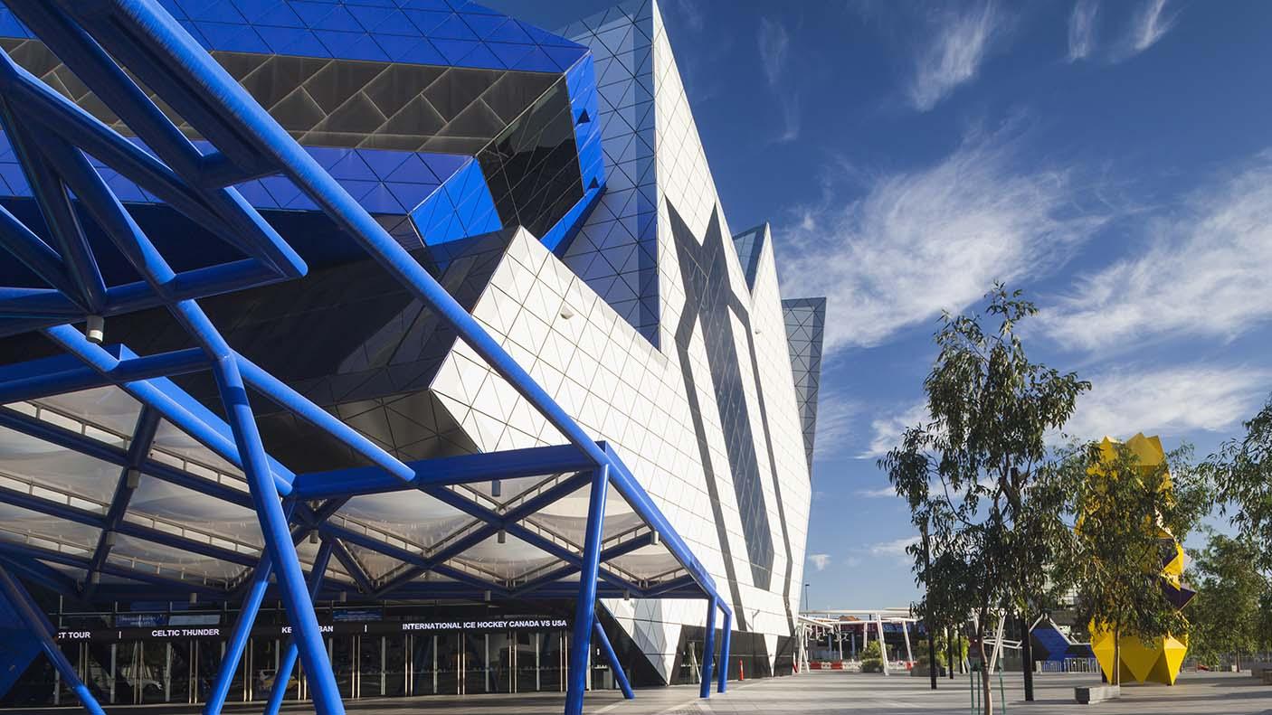 External photograph of RAC Arena