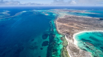 View of abrolhos islands