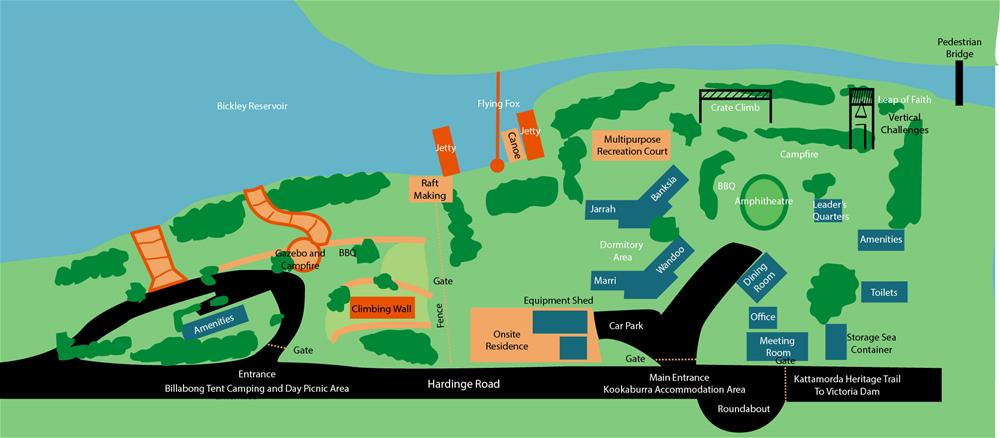 Bickley Recreation Camp map