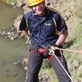 Advanced abseiling close-up intermediate