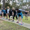 Bickley Challenge participants in a line standing on matts