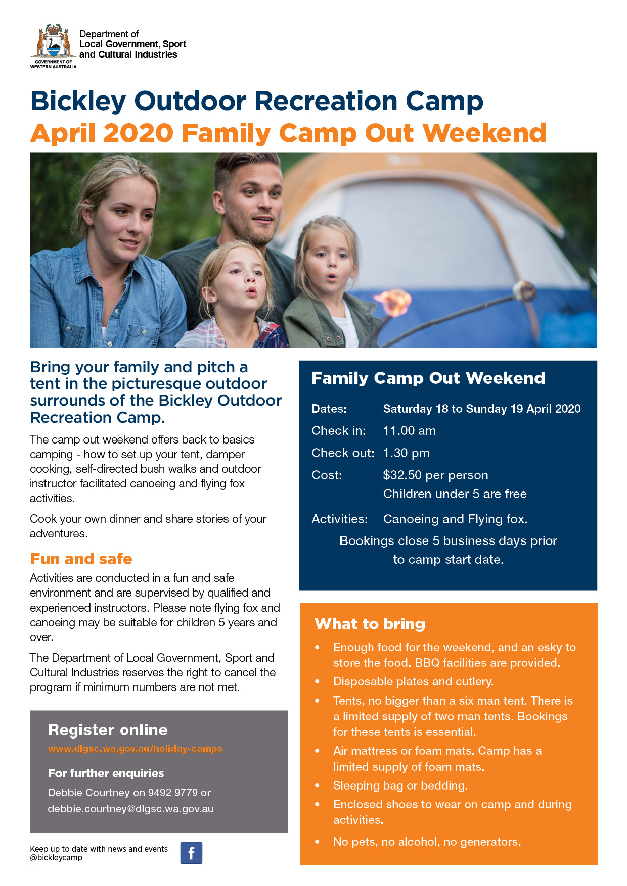 April 2020 Family Camp Out Weekend