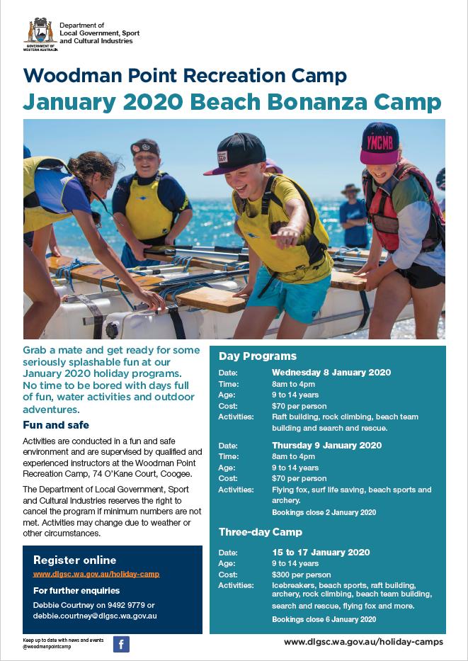 Woodman Point Beach Bonanza Jan 2020 flyer