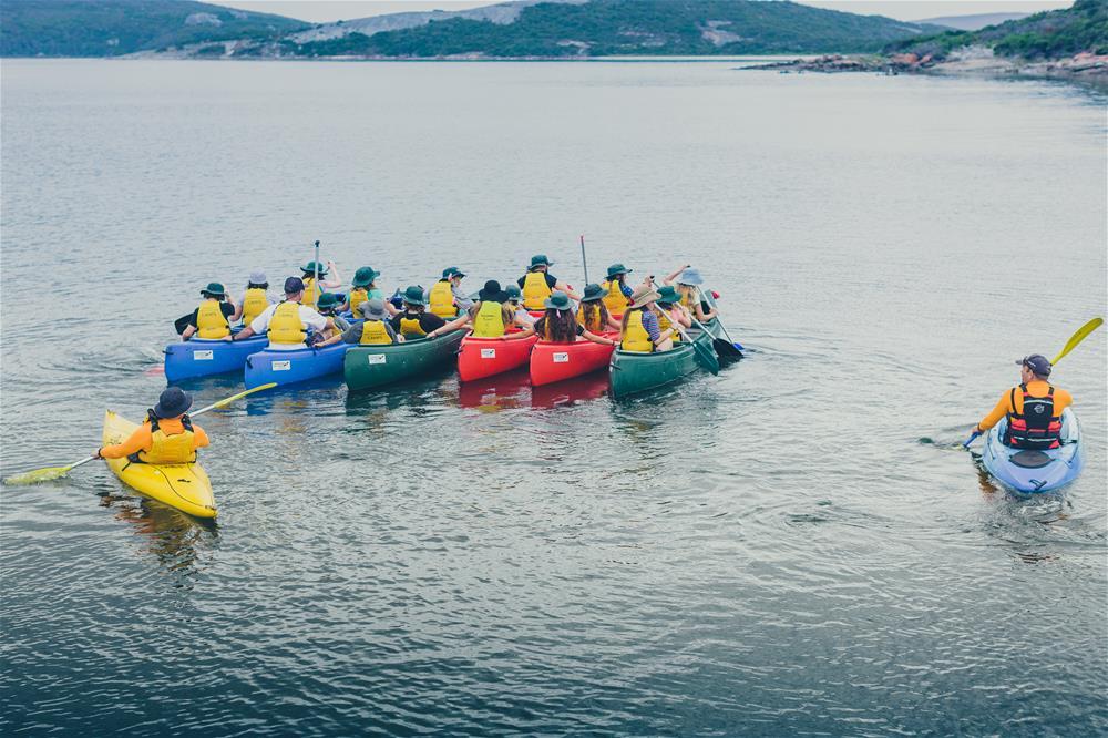 rafting-up